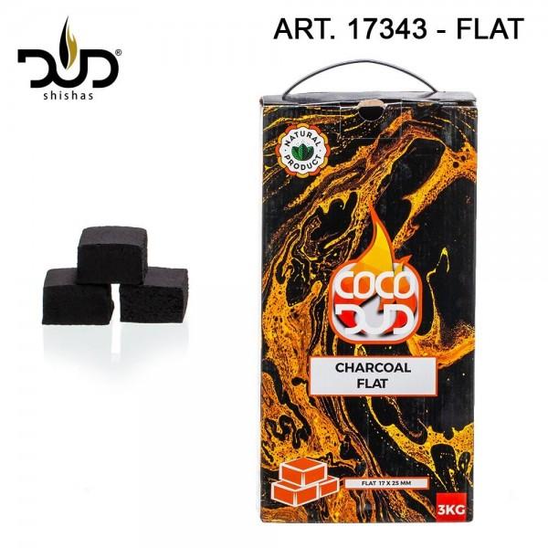 CoCo DUD Flat Shape-charcoal- 324pcs/box 3 kg