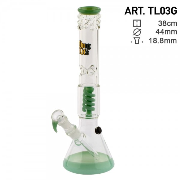Thug Life | Beaker Green - H:38cm - SG:18.8mm - Ø:44mm