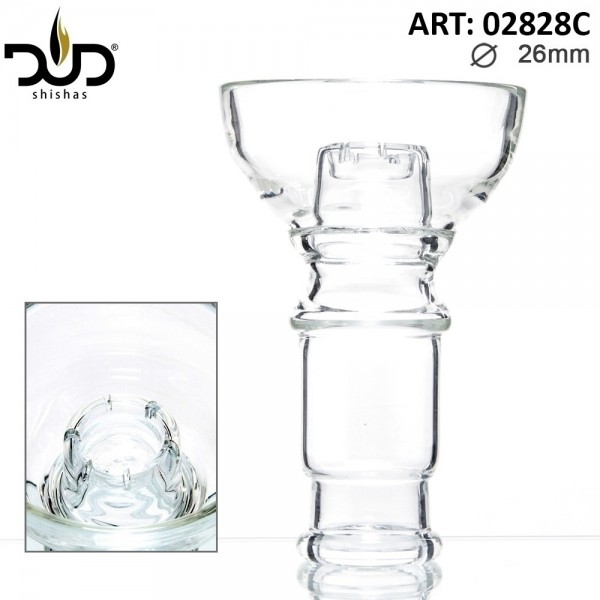 DUD Shisha | Replacement DUD Hookah Glass Bowl- Crystal (Female) Ø:26mm