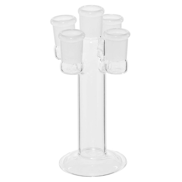 Stand Slide Holder - H:16cm Glass slide stand with 5 holders fits on any 18.8 mm male joint