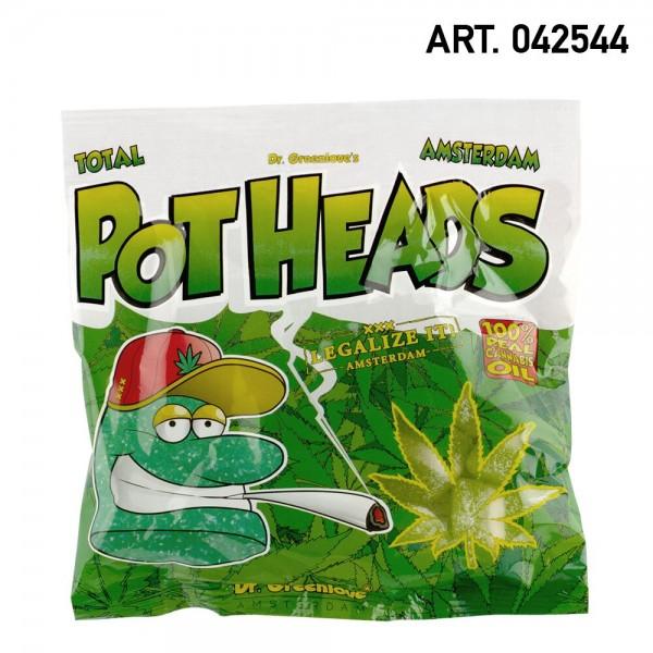 Cannabis   Cannabis Pothead Gummies 100% Real Cannabis Oil - Sativa Infused Sugar Coated - 100gr