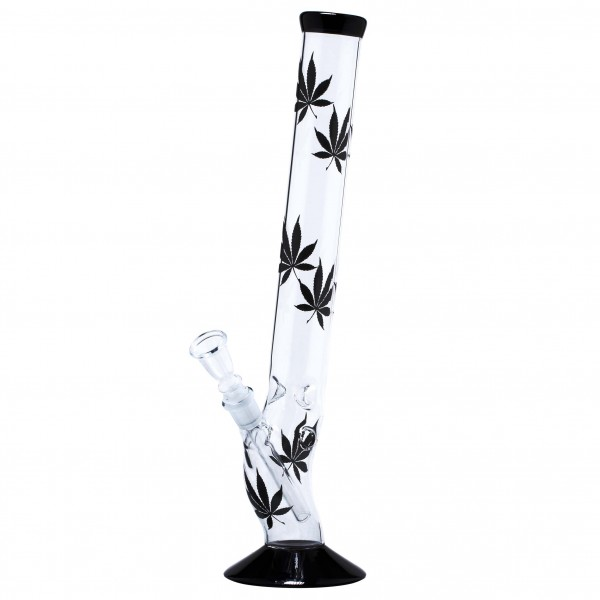 Multi Leaf Bolt Glass Bong - H:42cm - Ø:45mm - Socket:18.8mm