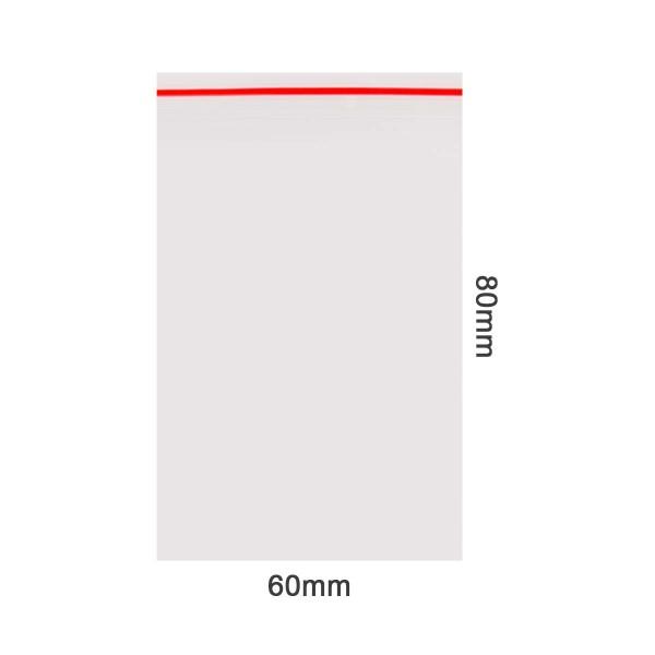 Amsterdam | Zipper Bags 60mm x 80mm 70µ (MU) Red 1000pcs in a display