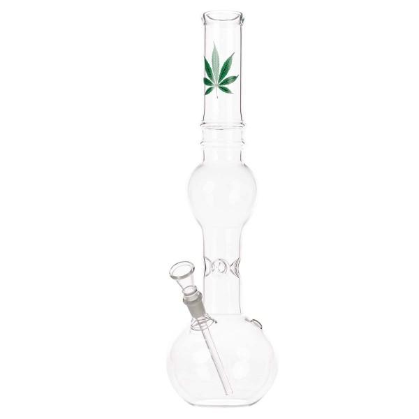 Gold Line Glass Bong - H:39cm- Ø:40mm - Socket:14.5mm