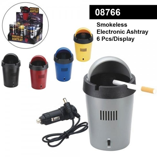 Smokeless Electronic Ashtrays Mixed Colors- minimum order 6pcs/display