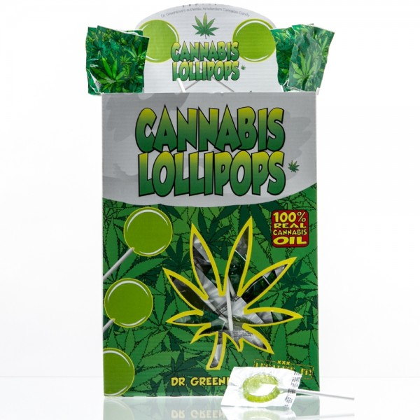 Cannabis Lollipops - 150pcs / display - THC Free 6g /Lolly