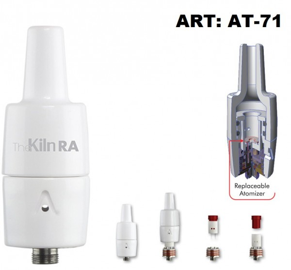 Atmos Kiln RA Concentrate Heating Attachement-Ceramic Chamber-Rebuildable Atomizer.