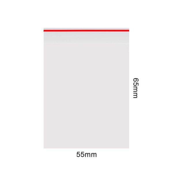 Amsterdam | Zipper Bags 55mm x 65mm 50µ (MU) Red 1000pcs in a display