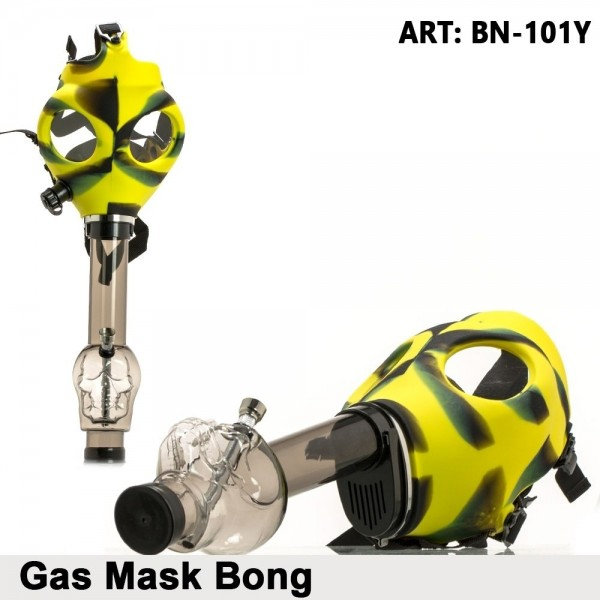 Amsterdam | Gas Mask Bong- Yellow Skull Shape