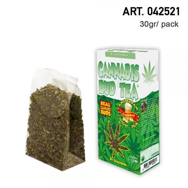 Cannabis | 100% Cannabis Mint Bud Tea - Hemp Bud Tea made with 100% real cannabis buds!