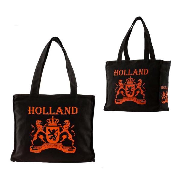 Holland Canvas Big - Black Orange