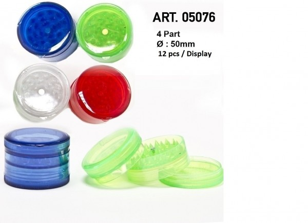Amsterdam | Acrylic Grinders - Ø:50mm- 4part-12pcs/display- mix of colors
