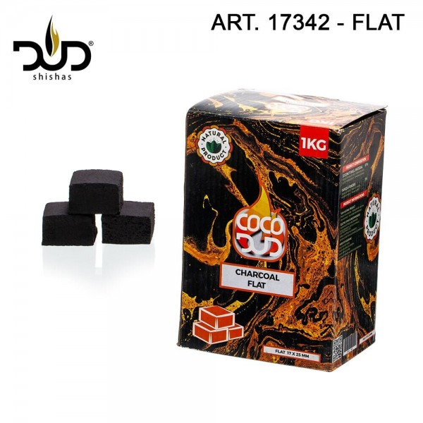 CoCo DUD Flat Shape-Charcoal- 108pcs/box 1 kg