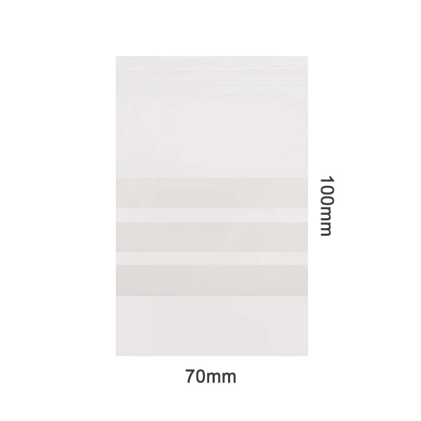 Amsterdam | Zipper Bags 70mm x 100mm 70µ (MU) Clear with 3 x writable labels and 1000pcs in a displa