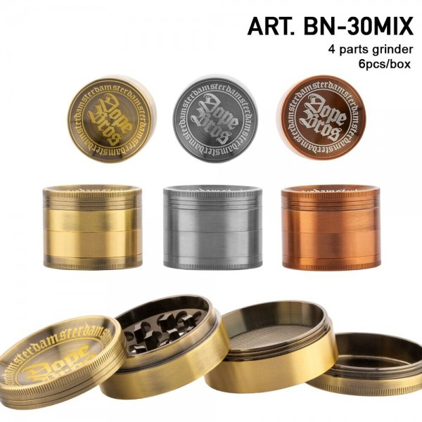 Dope Bros Grinder- 4part-Ø:56mm-6pcs/box-mix of colors