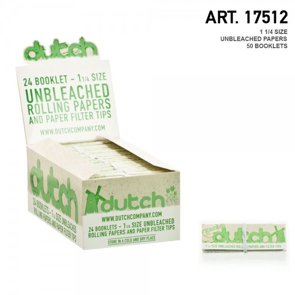 Dutch   1-1/4 Size unbleached papers - 50 booklets