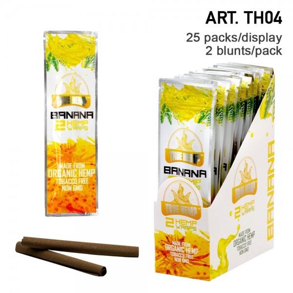 True Hemp | Organic Wraps Banana - 25 packs in display