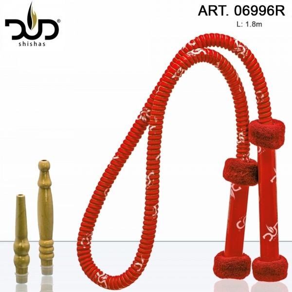 DUD Shisha | Hose Long Grip - Red- L:1.8m