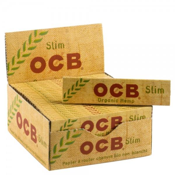 OCB   Organic Hemp King Size Slim Papers Slim 50 booklets in display