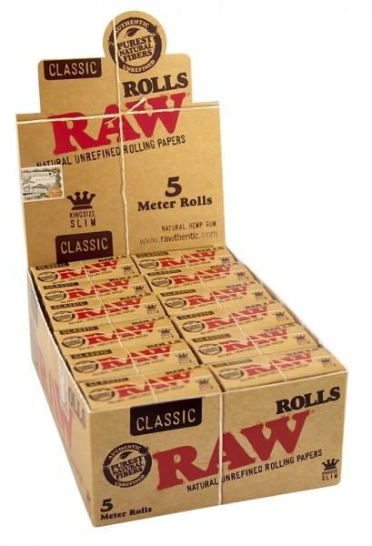 RAW CLASSIC ROLLS SLIM Box/24 - 5m