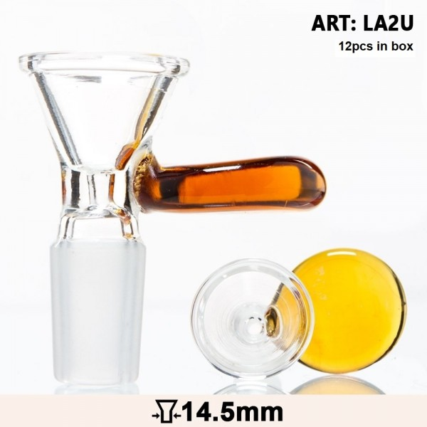 Grace Glass | Glass Bowl with an umber handle - SG:14.5mm - 12pcs in a display