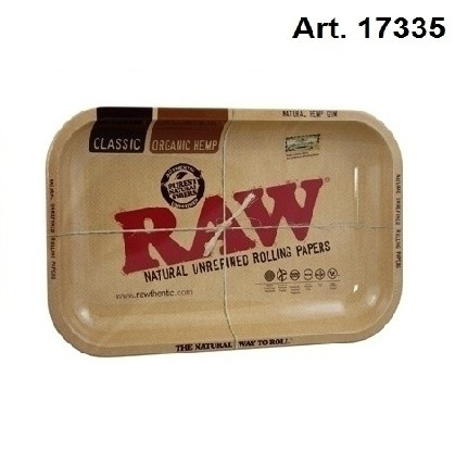 RAW   METAL ROLLING TRAY - SMALL H: 17.5cm W: 27.5cm