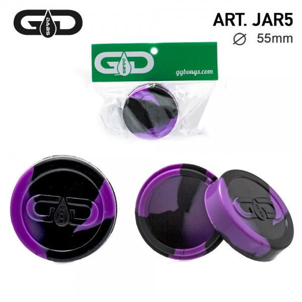 Grace Glass   Dabs Silicon Jar- Purple Black- Ø:55mm