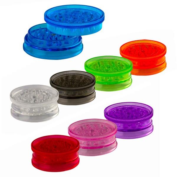 Grinder Plastic Amsterdam- 2part-Ø:60mm-48pcs/box-mix of colors