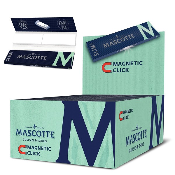 Mascotte | M-series Kingsize Slim 34 leaves per booklet and 50 booklets in a display - size: 110 x 4