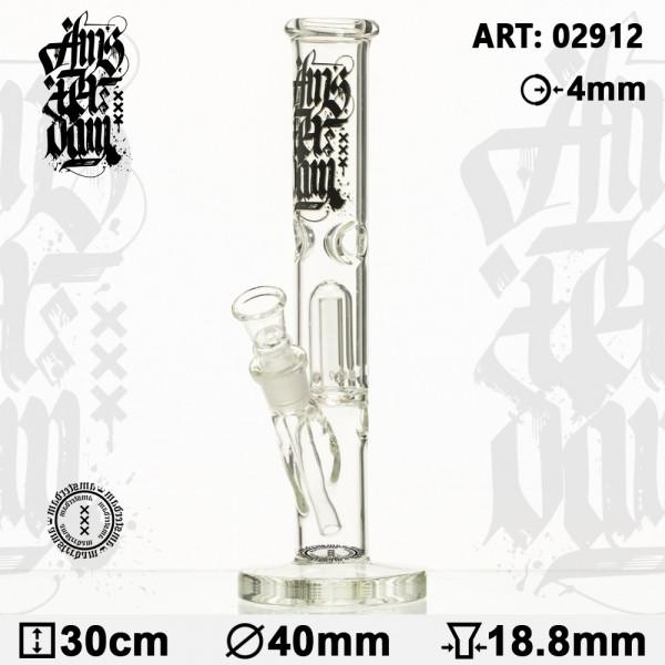 Bong Glass Amsterdam - H:30cm- Ø: 40mm-SG:18.8mm-WT:4mm