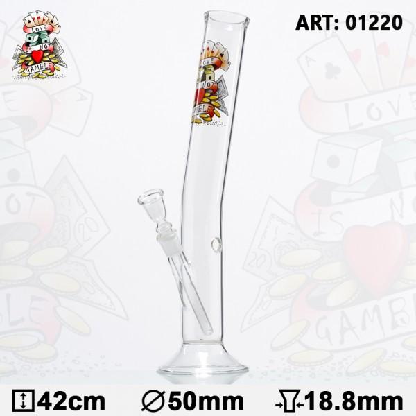 Tattoo Hangover Glass Bong - H:42cm- Ø:50mm- Socket:18.8mm