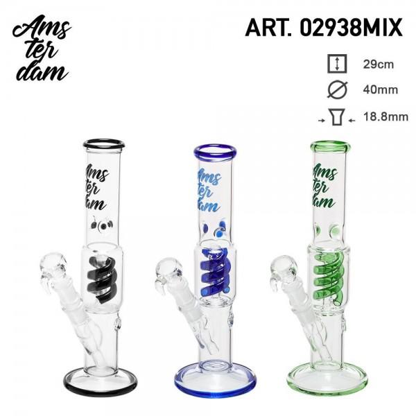 Amsterdam Glass Bong- H:28cm- Ø:40mm SG:18.8mm 6pcs in box
