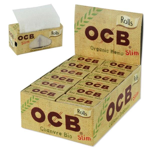 OCB | Organic Hemp Rolls, approx.4m x 44mm, Display of 24 pcs