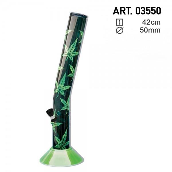 Leaf | Acrylic Hangover Green Multi Leaf Bong- H:42cm- Ø:50mm