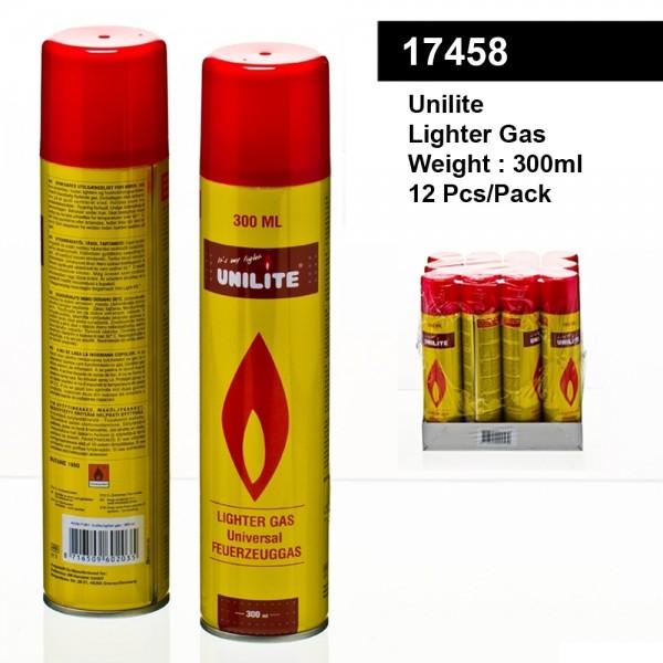 Unilite | Gas Lighter Refill 300ML 12pcs/pack (11533-01)
