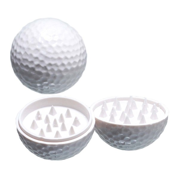 Golfball Grinder Plain White - 2part