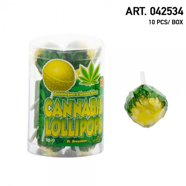 Cannabis | Lollipops Lemon Haze with Bubblegum 10 pcs in a box