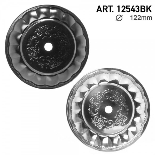 DUD Shisha | Ashplate- Black-Silver -22cm