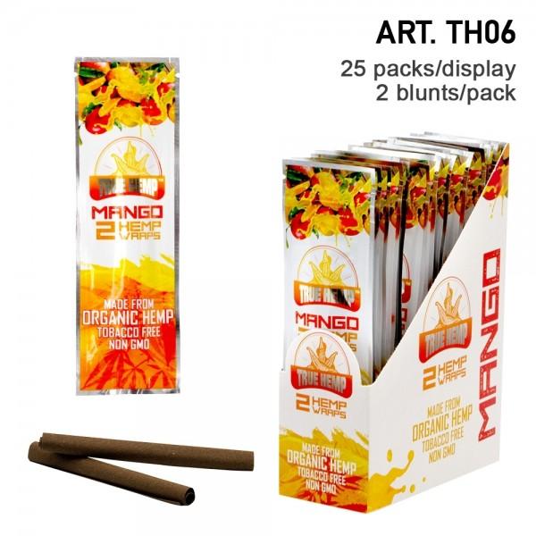True Hemp | Organic Wraps Mango - 25 packs in display