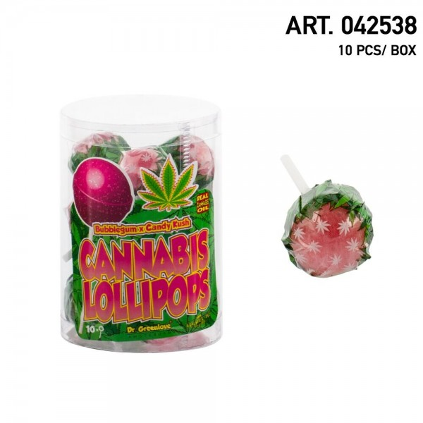 Cannabis | Lollipops Candy Kush with Bubble Gum 10 pcs in a box