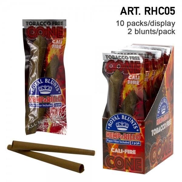 Royal Blunts | Hemparillo Cali-Fire Cones with tips - 20 cones in display