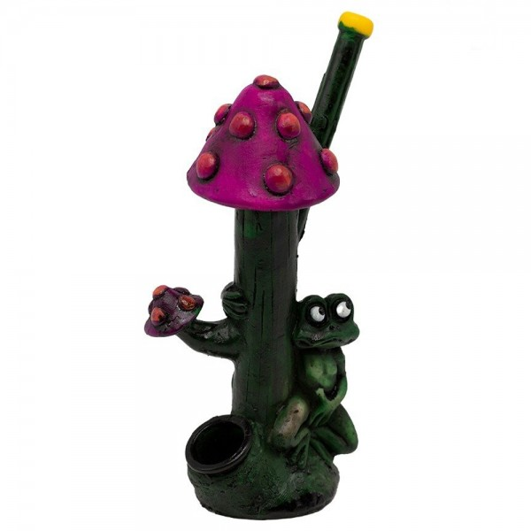 Amsterdam | Purple Mushroom Pipe L:12,5cm with the pipe hole of 3mm