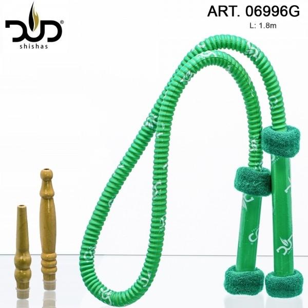 DUD Shisha | Hose Long Grip- Green- L: 1.8m