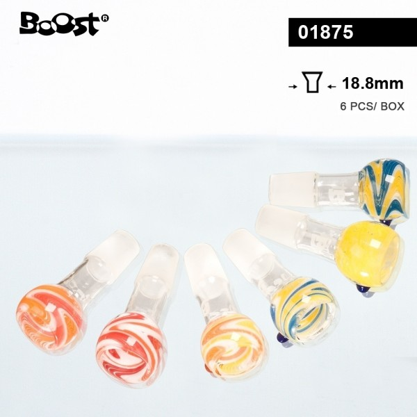 Boost | Mixed Colors Glass Bowls- SG:18.8mm- 6pcs in a display