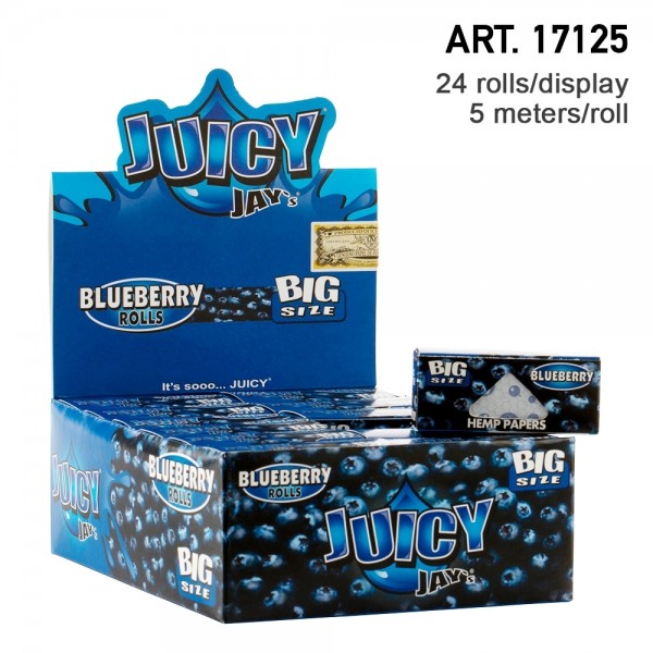 Juicy Jay's | Blueberry flavored Roll 5m - 24pcs in a display