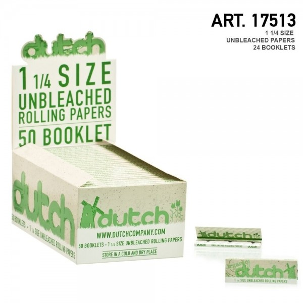 Dutch | 1-1/4 Size unbleached papers + TIPS - 24 booklets