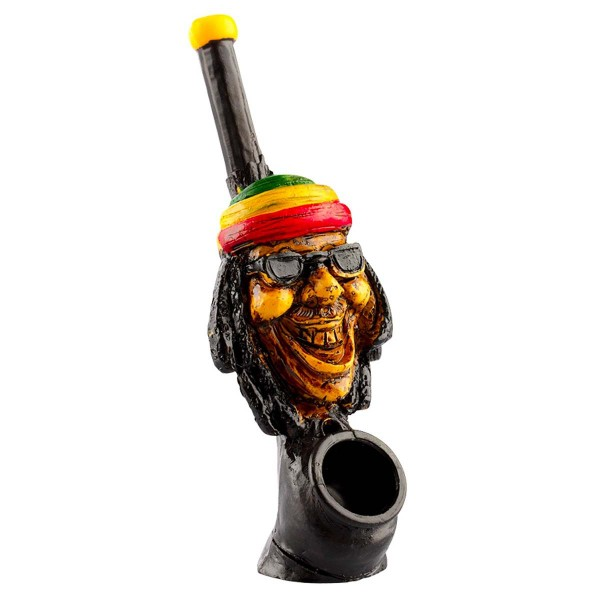 Amsterdam | Rasta Man Pipe L: 12cm with the pipe hole of 3mm