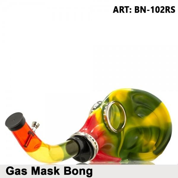 New Ways | Gas Mask Bong- Rasta | Acrylic Bongs | Bongs