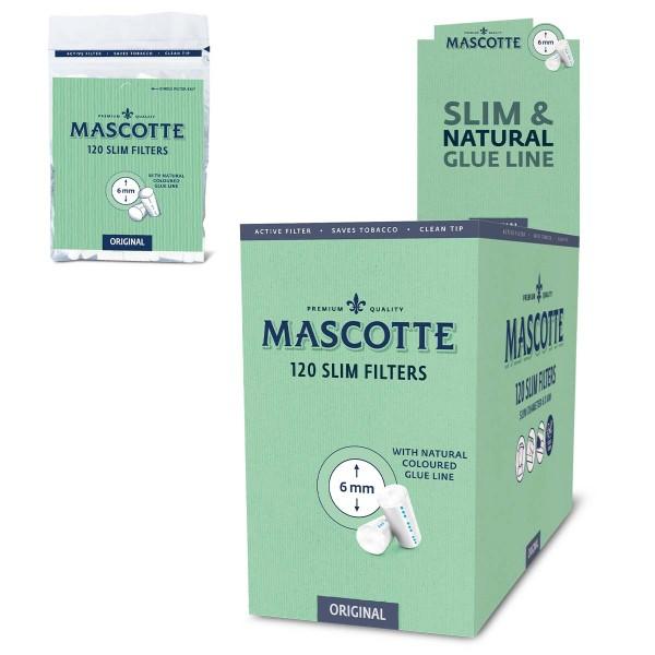 Mascotte | Original Slim Filters 120pcs per bag and 20 bags in a display - Dia: 6mm