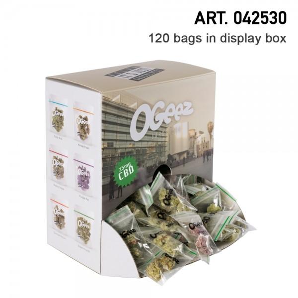 Ogeez Krunchbox 120 Bags with 25mg CBD Hemp Chocolade